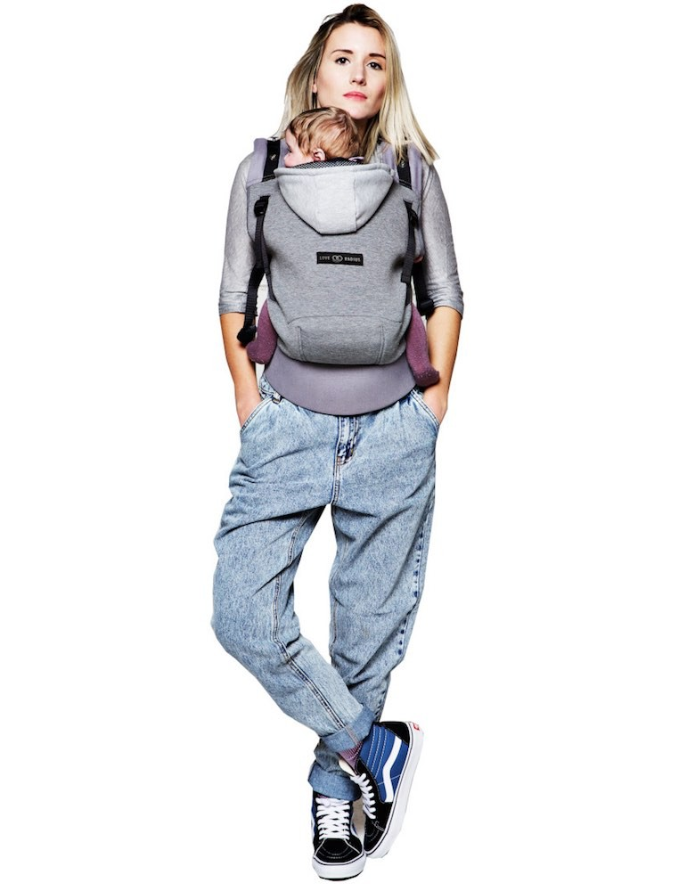 Love Radius (JPMBB) Hoodie Carrier Flannel grey
