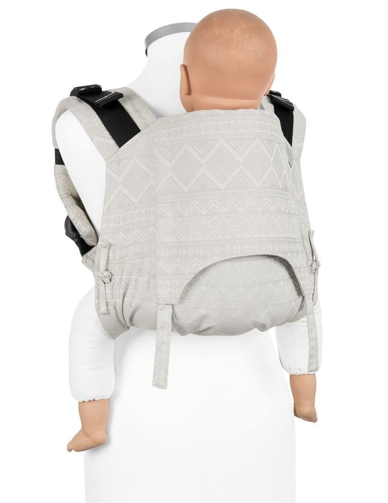 Fidella Onbuhimo Toddler Back Carrier Cubic  Lines Pale Grey