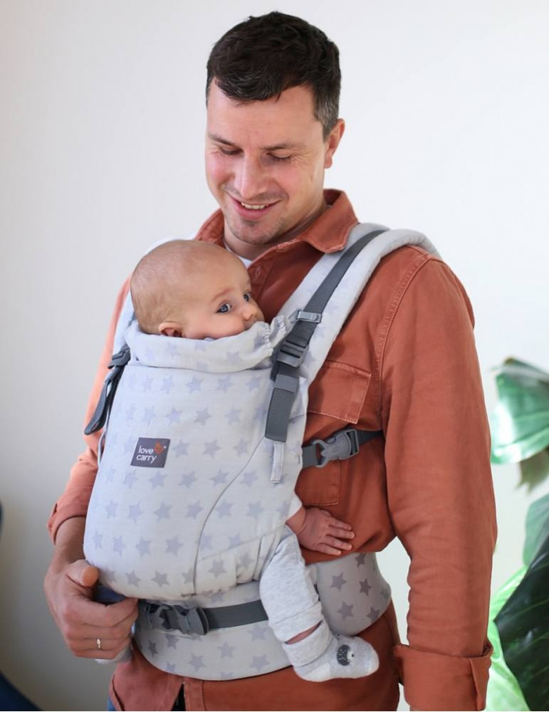 Love and Carry ONE+ Newborn Baby Carrier Star