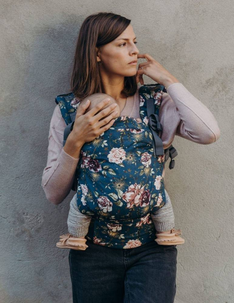 BOBA X Ergonomic Baby Carrier - Midnight Flower Child