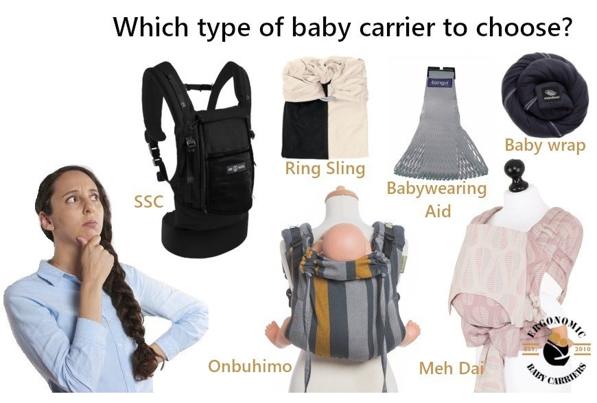 Which type of baby carrier to choose ?  Choose the Right One For You and Your Baby