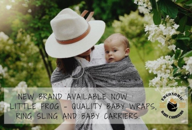 New brande avaialable now : Little Frog - quality baby wraps, ring sling and baby carriers made in EU!