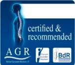 approved as back-friendly by German association for the prevention of back pain