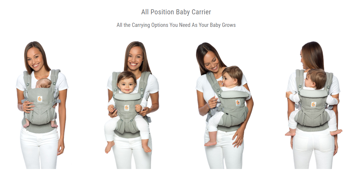 All-In-One - 4 Carry Positions - Ergobaby Omni 360 Cool Air Mesh