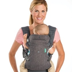 Infantino Flip 4-in-1 Baby Carrier Front Facing in Carry wide seat