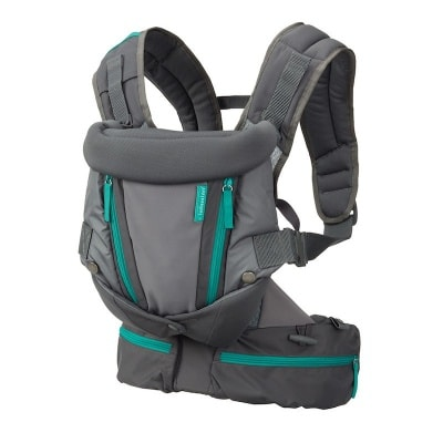 Infantino Carry On Multi-Pocket Carrier - with foldede head support