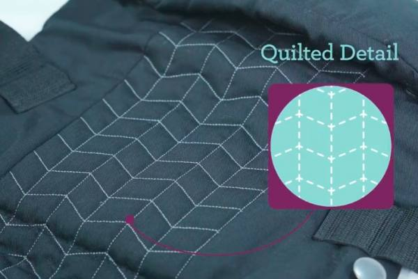 Original quilted detail
