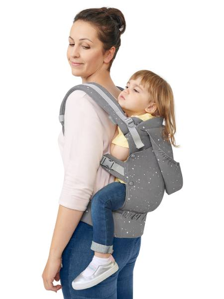 Kindekraft Huggy -Front and back carry baby carrier - back carry