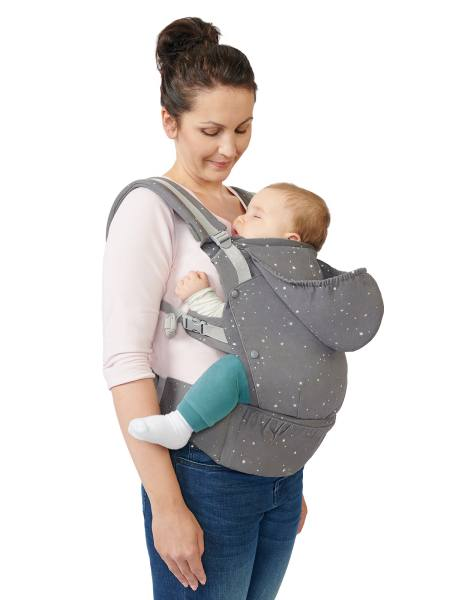 Kindekraft Huggy -Front and back carry baby carrier - front carry