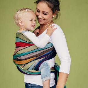 LennyLamb Baby Sling - Woven Baby Wrap front carry