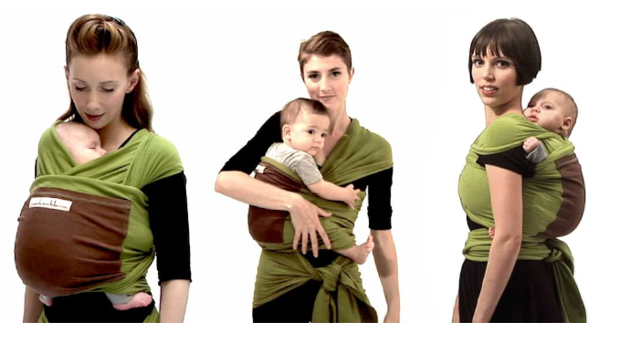 3 carry possitions with Original baby wrap