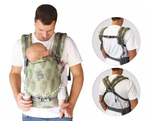 Love and Carry ONE+ carrier Miami Crossable padded shoulder straps