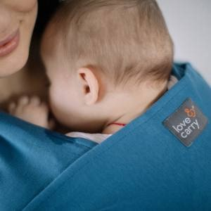 Love and Carry Stretchy Baby Wrap Sky