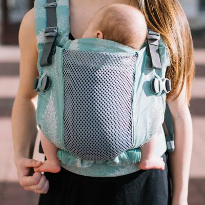 M-position One + cool newborn carrier