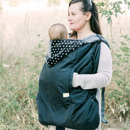 Lucky Babywearing Cover 3 in 1front carry front pockets