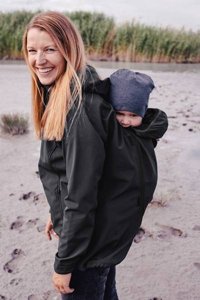 Babywearing jacket for back carry