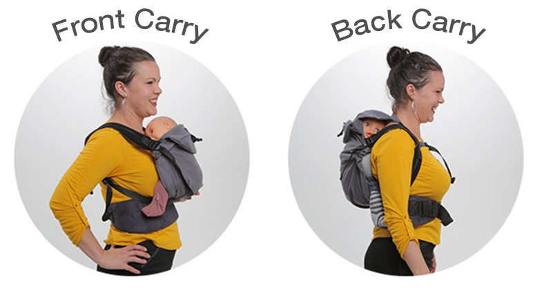 front & back carry with Neo by Neobulle baby carrier