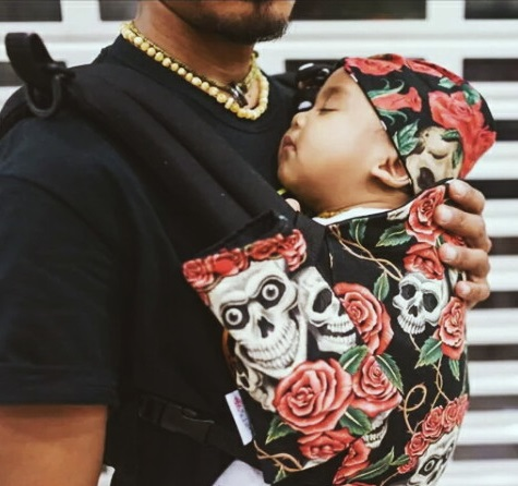 Rose and Rebellion Baby Size Carrier hood