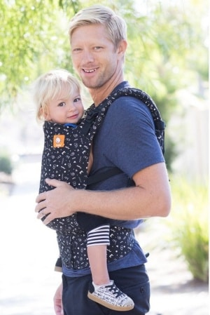 Tula baby carrier front carry
