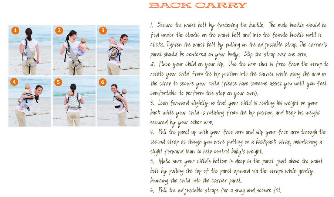 How to use Tula Toddler carrier back carry