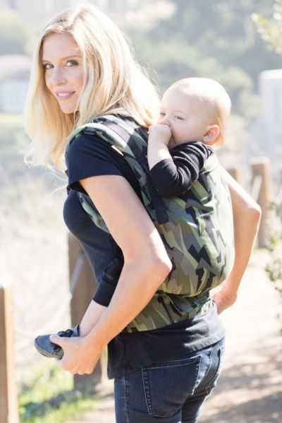 back carry Tula Toddler ergonomic baby carrier
