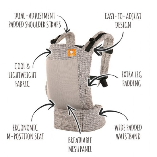 Tula Standard Coast Baby Carrier Key Features