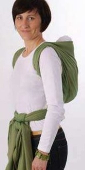 Storchenwiege  Woven Wrap Baby Sling back carry